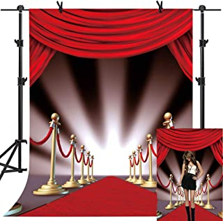 MME 5x7Ft Red Carpet Curtain Backdrop Youtube Background Photo Video Studio Photography ME075