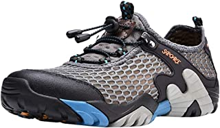 Hiking Shoes Men Casual Summer Breathable Lightweight Off-Road Sneaker Walking Trekking Training Shoes