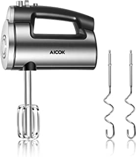Hand Mixer 6-Speed Kitchen Hand Held Mixer, 300W Ultra Power Electric Mixer with Turbo Boost for Whipping Mixing Cookies, ...
