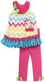 Pink Chevron Easter Basket Outfit (12 months)