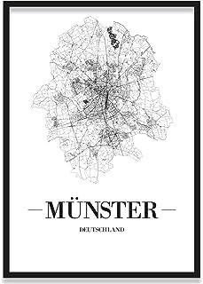 JUNIWORDS Stadtposter, Münster, Wähle eine Größe, 40 x 6