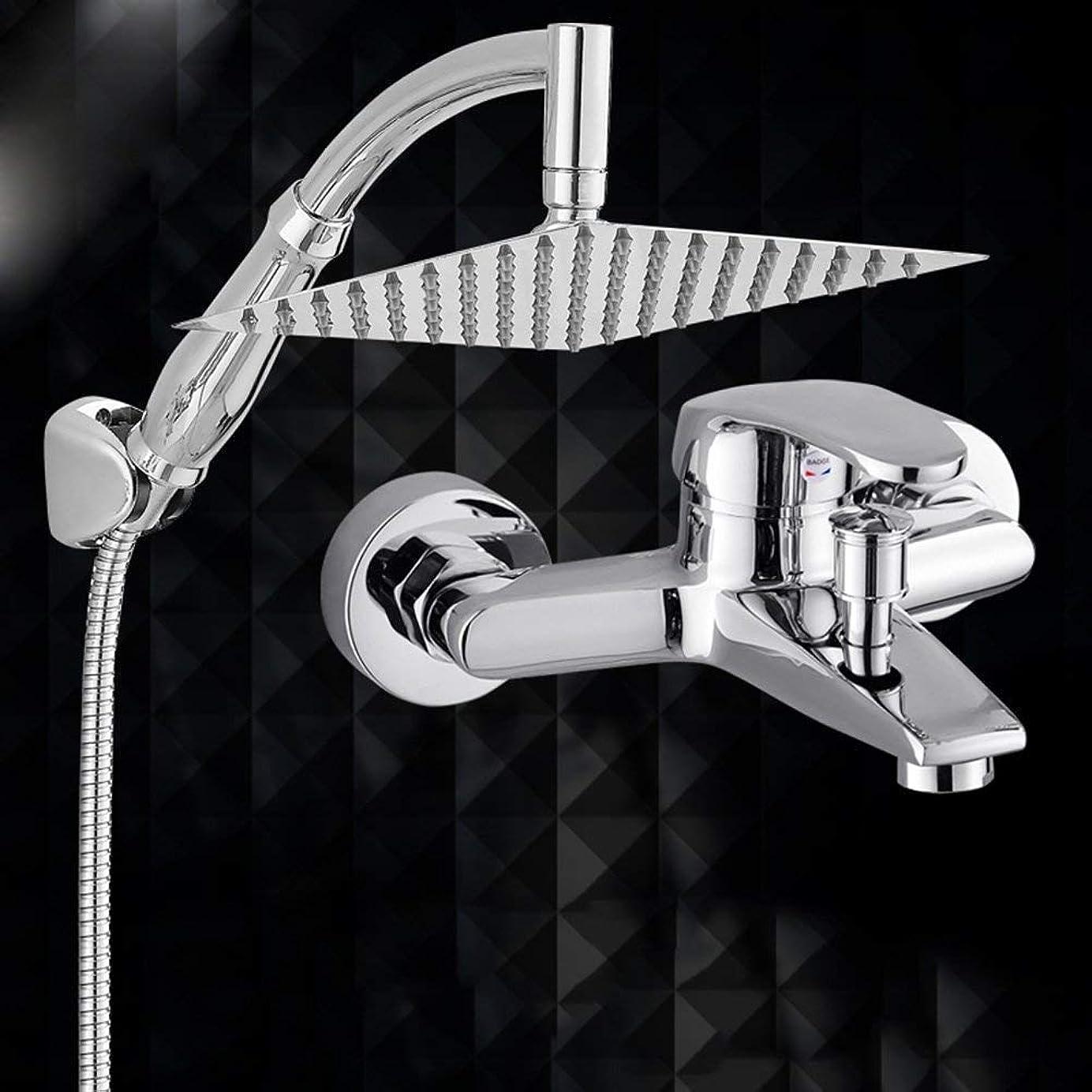 打撃わがまま抽象化実用的なハンドシャワー シャワーを浴びるシャワー浴室を浴びる加圧シャワーヘッドシャワーヘッドノズル加圧レインシャワーハンドヘルドバスシャワーヘッドステンレス鋼と銅材料 (Color : 3)