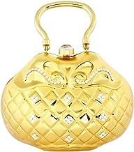 حقيبة كلاتش لون ذهبي للنساء
