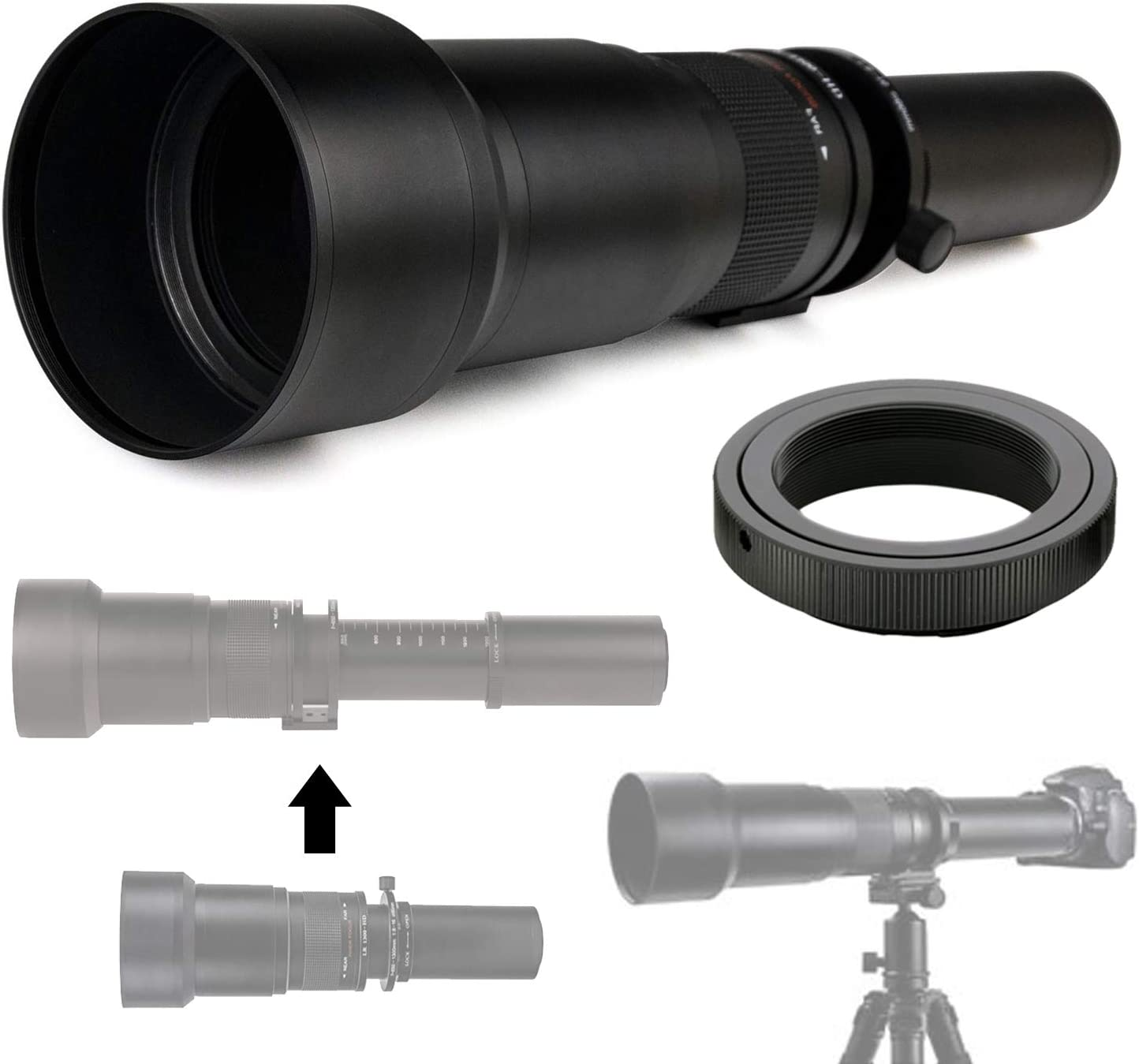 Commander Optics 650-1300mm f 8-16 HD Fashionable for Zoom Ca Lens Detroit Mall Telephoto
