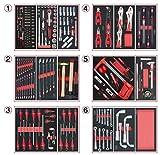 KS TOOLS 714.0202 Composition d'outils 6 tiroirs pour servante, 202 pièces