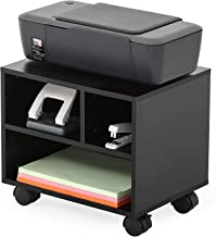 FITUEYES Mobile Under Desk Printer Machine Stand Work Cart with Wheels PS304003WB