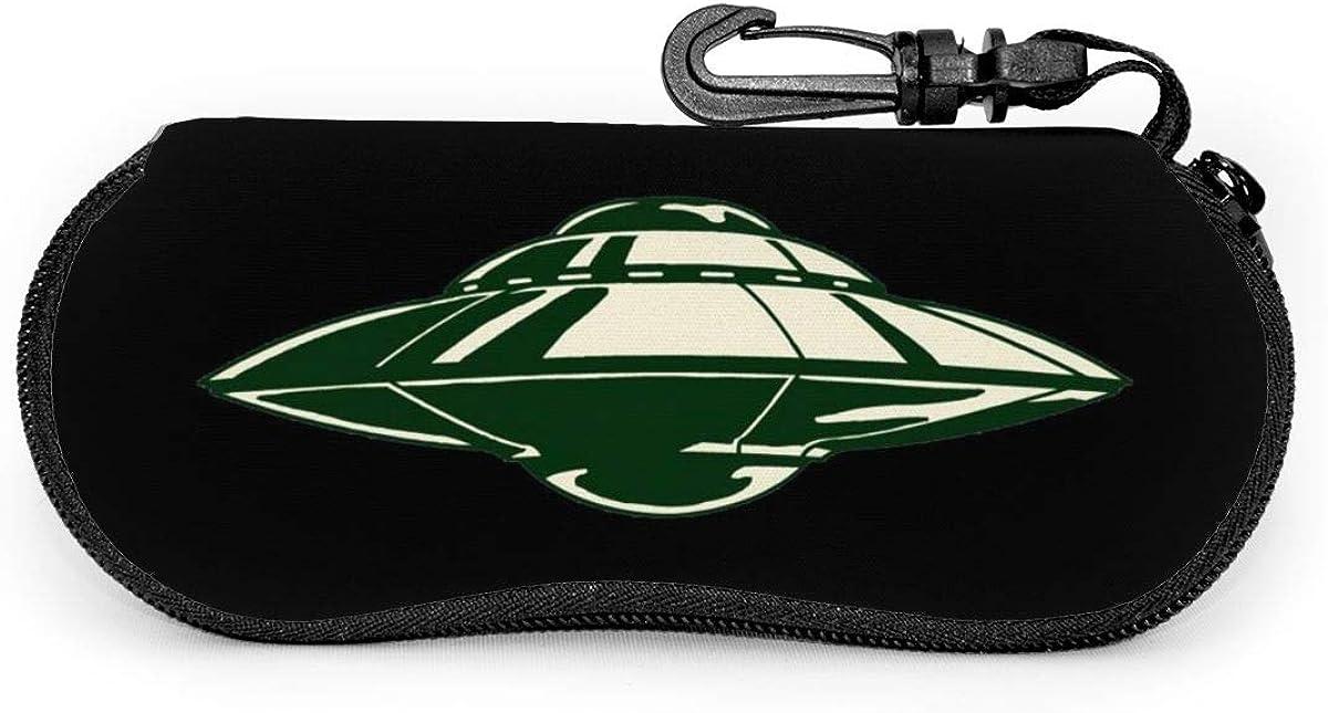 UFO (5) Sunglasses Soft Case Ultra Light Neoprene Zipper Eyeglass Case With Key Chain