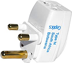 Ceptics 3 Outlet Travel Adapter Plug Type M for South Africa