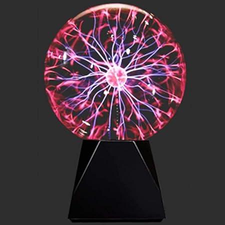 プラズマボール ガラス玉 おもちゃ ボール USB駆動の科学玩具放電ボール タッチと音を感知するプラズマボール 装飾 寝室 クリスマスギフト用のノベルティグッズ (4インチ)