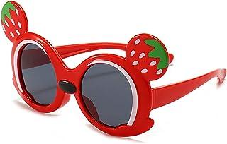 ZGF - ZGF Gafas de Sol para niños pequeños Gafas de Sol polarizadas de protección UV adecuadas para niños de 3 a 9 años,Rojo