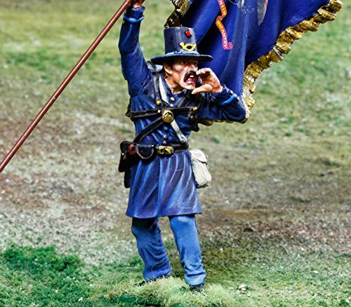 Civil War Toy Soldiers 2nd Wisconsin Iron Brigade Infantry Battle of Gettysburg Figure Collectors Showcase Toy Soldiers Painted Metal Figure 1/32 Britains King Country Gunn First Legion Type