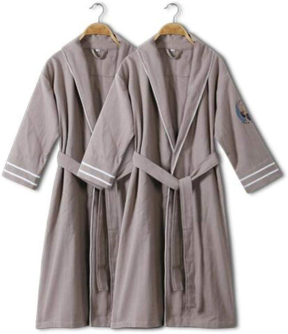 Robes Bathrobes Long Cotton Bathrobes Robe Men's Thin Section Loose and Comfortable Hotel Cotton Absorbent Yukata