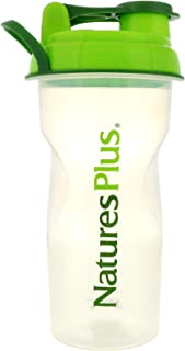 NaturesPlus Jaxx Shaker Cup - 24 oz Bottle - Clear & Green with Air Tight Lid & Handle, Jaxx Shaker Included - Great for Protein Shakes, Greens Powder, Nutrition Drinks