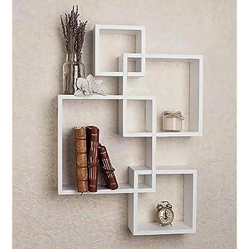 Acco & Deco Intersecting Wall Shelf | White