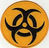 Iron on Patch da cucire ricamato applicazione rischio biologico Badge cartello biologia Danger