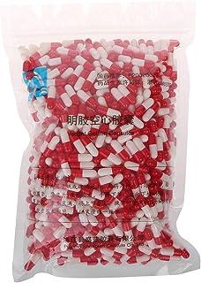 ZOUCY Cápsula de gelatina Dura vacía de 1000 Unidades MedicineCapsule 0# píldora vacía roja y