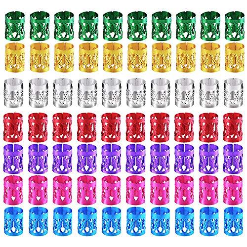70 Piezas de Dreadlocks Puños de Pelo de Metal Anillo de Trenzado de Pelo Accesorios de Pelo,Dreadlocks Accesorios Para el Cabello Anillos para el Cabello Puños,para decoración de cabello