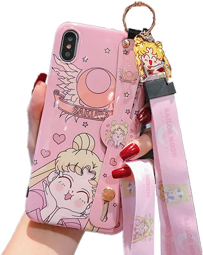 for iPhone 11 Case, for iPhone 11 Cover, Japan Anime Sailor Moon Case with Lanyard Strap Silicone Soft Phone Case Back Cover for iPhone 11 Pro Max Xs Max XR 6S 7 8 Plus (Cute, for iPhone 11): Amazon.co.uk: Electronics & Photo