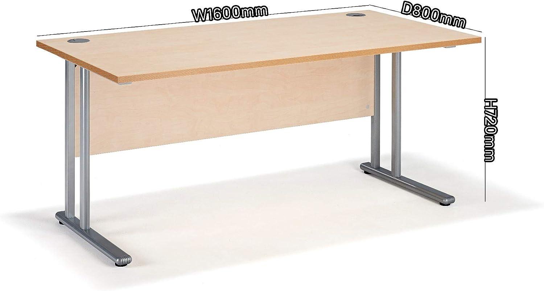 Maple Straight Cantilever Office Desks