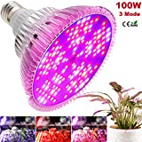 100W Led Grow Light Bulb, 3 Mode Growth, Bloom, Full Spectrum Led Plant Bulb 150 Leds Plant Light Bulb For Indoor Plants, Garden, Flowers, Vegetables, Greenhouse & Hydroponic E26 Light Bulb By MILYN