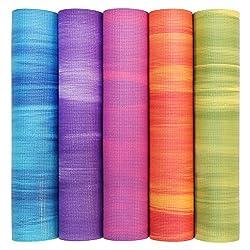 Yogamatte GANGES, Allround-Matte für Yoga, Gymnastik & Pilates mit guter Dämpfung, griffig und rutschfest in 5 bunten Farben (lila/weiß)