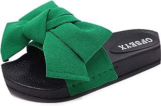 Surprise S Silk Bow Slides Beach Noslippers Flat Heels Flip Flops Sandals