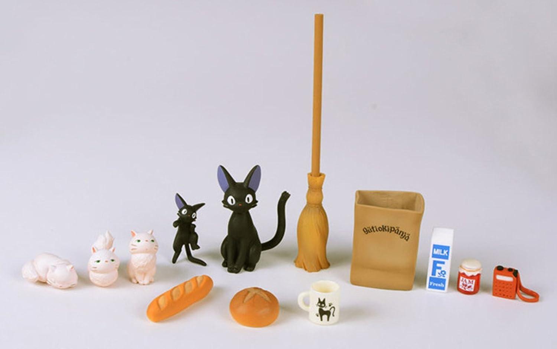 Kiki's Delivery Service Black Cat Jiji DIY Figure Doll PVC Plastic Crafts Decorative Ornaments Micro Landscape