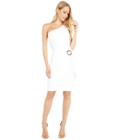 Vince Camuto Scuba Crepe One Shoulder Bodycon (Ivory) Women