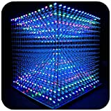 iCubeSmart 3D Led Cube Light Electronics Kit with LED 16x16x16 Electronic Learning Toy for Children and Teenagers Learning Activities Suit (Multi-Colored)