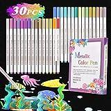 Rotuladores Metálicos, Buluri Marker Pen Rotuladores Metalizados 30 Color Marcador Pens Bolígrafos d...