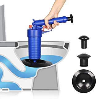 Drain Blaster, Air Powered Drain Clog Remover, High Pressure Plunger Pump Cleaner Pipe Blaster Set for Bath, Toilet, Sink, Kitchen Clogged Pipe