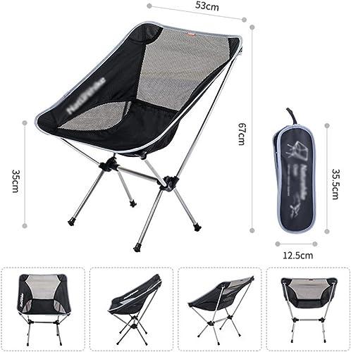 YAN Freizeit Camping Stuhl Stahlrahmen Falten Gepolsterte Runde Tragbare Stabile Mit Tragetasche Für Outdoor-Aktivit n (Farbe   2)