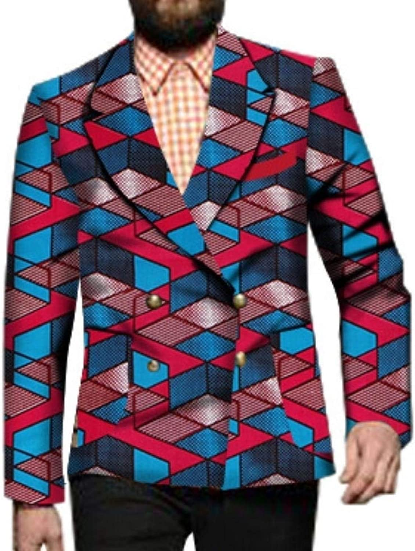 Zimase Men African Print Dashiki Plus Size Blazer Simplicity Jacket