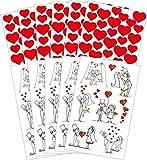 AVERY Zweckform Art. 58226 Aufkleber Hochzeit (Sticker Set, Papier mit Goldprägung, Brautpaar,...