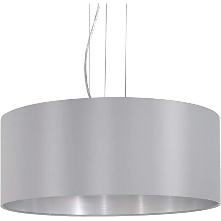 Eglo Lampe 31606Intérieur, Métal, E27, Gris
