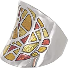 Venus Accessories Women's Rhodium Plated Ring - 8 US