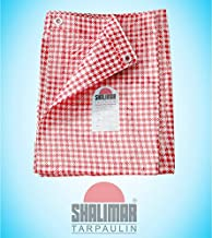 Shalimar 160 GSM Virgin HDPE Tarpaulin (Red and White, 15 x 12 ft)