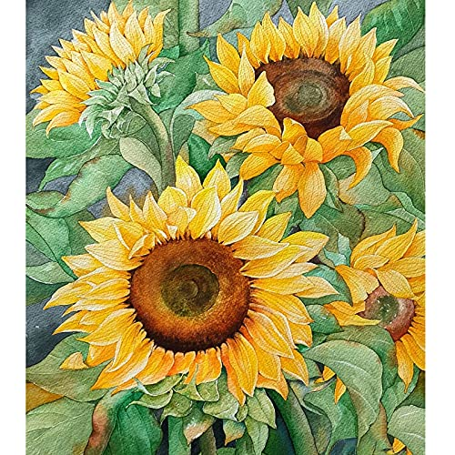 Sunflower Diamond Painting Kits for Adults, Full Drill Diamond Art with Tools and Extra Premium Diamonds, Beautiful 5D Diamond Painting for Home Wall Decor