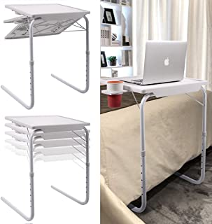 2 PCs Table Mate 2 Smart Folding Table II TV Tray Fold-able Laptop Holder Adjustable Height Cup Tray Desk by Scream Store