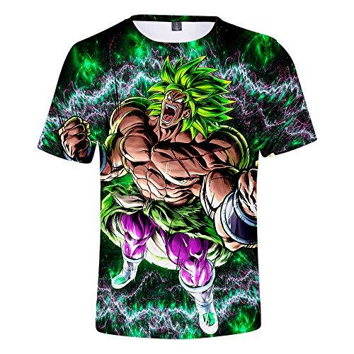 WCYL Camiseta De Manga Corta para Unisex Impresión 3D De Casual Verano T-Shirts Polyester/Cotton Cuello Redondo T-Shirts Camisa Deportiva Tops Tees Polos Suave Transpirable Dragon Ball Super :Broly