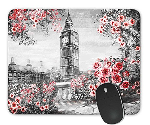 KingKang Oil Painting, Summer in London Mouse Pad Office Mouse Pad Gaming Mouse Pad