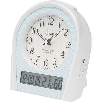 CASIO(カシオ) 目覚まし時計 電波 シルバー アナログ 常時点灯 温度 湿度 カレンダー 表示 TTM-160NJ-8JF