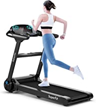 Goplus Electric Folding Treadmill, Portable Running Jogging Machine with Bluetooth Speaker and 17'' Wide Tread Belt, Perfe...