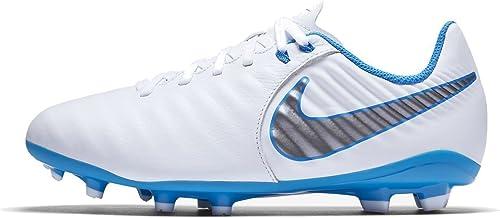 Nike Legend 7 Academy FG Chaussures de Football Mixte Enfant, Blanc (blanc bleu Hero-Chrome 107), 36 EU