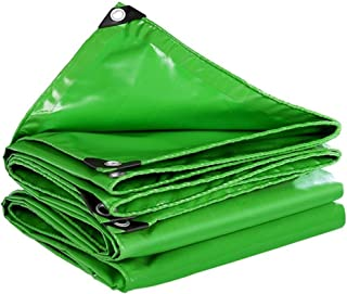 EL-ZWHL PVC Tarpaulin Sheet Cover Heavy Duty Waterproof Cloth with Eyelets for Garden Furniture, Wood, Truck ,Camping Or Gardening (Color : Green, Size : 3x6M)