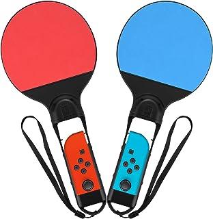 vidsel N-スイッチ卓球ラケット ジョイコンピンポンラケット マリオゲーム対応 テニス すべてのラケットスポーツ大会対応 Nintendo Switch Joy-Con 任天堂 バトル用