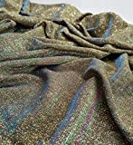 WSJQWHW 50cm Parpadeo Poli Tela Brillante con Polvo de Bling del Brillo de Cosplay Material Compuesto Vestido de Novia Decoración Material * 145cm Telas (Color : 7 Rainbow)