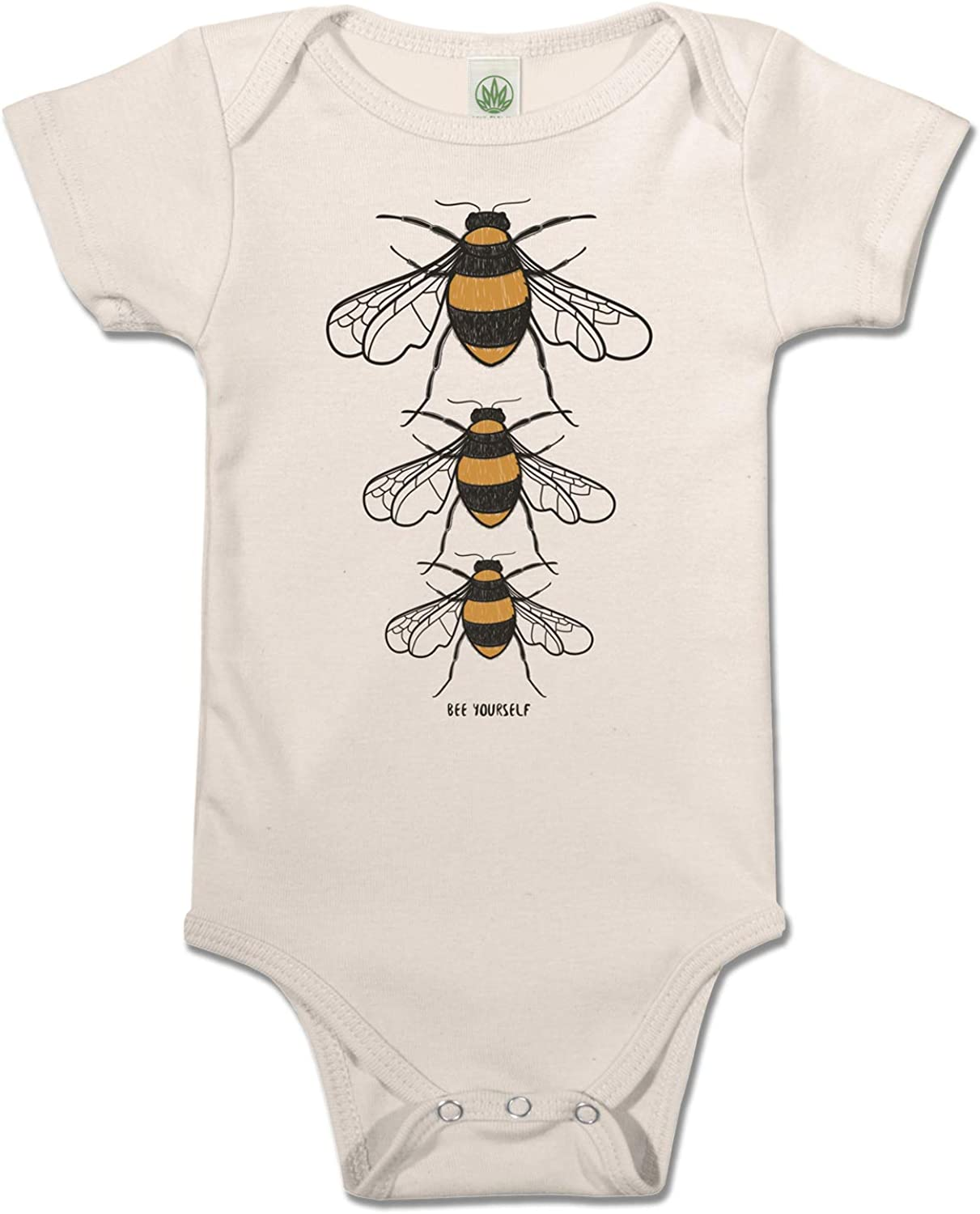 Soul Dealing full price reduction Flower Bee Yourself Organic Baby Ranking integrated 1st place Cotton Onesie Off-White U