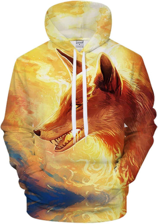GUQIYA 3D Printed Hoodies Sweatshirt Tracksuit Casual Streetwear