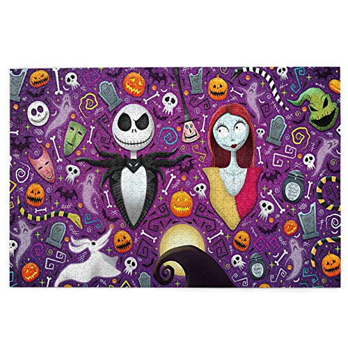 The Nightmare Before Christmas Puzzles 1000 Pieces for Adults and Teens Anime Jigsaw Puzzles Funny Family Games Home Decoration 19.7X29.5 Inch